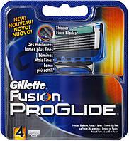 Бритвенные лезвия Gillette Fusion Proglide в упаковке 4 шт.