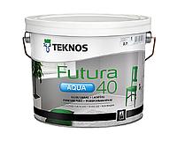 Краска уретан-алкидная TEKNOS FUTURA AQUA 40 водоразбавляемая белая (база1) 2,7л