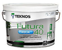 Краска уретан-алкидная TEKNOS FUTURA AQUA 40 водоразбавляемая белая (база1) 9л