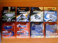 Сменные лезвия (картриджи) для бритья Gillette по оптовым ценам
