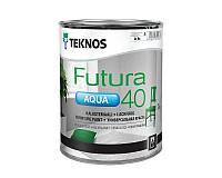 Краска уретан-алкидная TEKNOS FUTURA AQUA 40 водоразбавляемая транспарентная (база 3) 0,9л