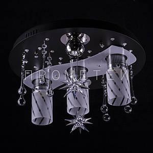 """Люстра """"космос"""" з LED підсвічуванням на пульті управління . P5-S0786/3+2"""