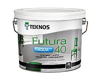 Краска уретан-алкидная TEKNOS FUTURA AQUA 40 водоразбавляемая транспарентная (база 3) 2,7л
