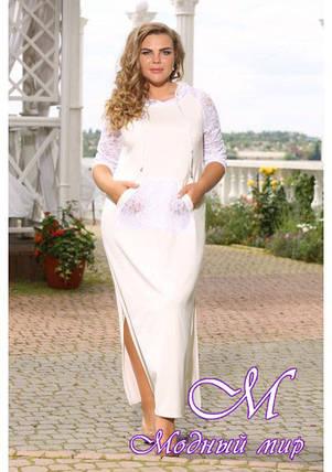Женское белое платье большого размера (р. 48-90) арт. Модейра, фото 2