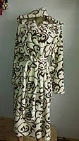 Халаты с капюшоном махра, размеры S M L XL XXL до 54 размера, фото 1