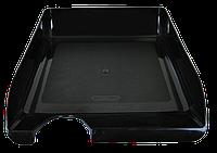 Лоток для бумаг горизонтальный jobmax, черный bm.6000-01