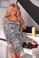 Платье с паетками (3 цвета)