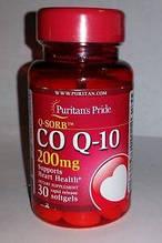 Антиоксидант для підтримки серцево-судинної системи Puritan's Pride Q-SORB™ Co Q-10 200 mg 30 Softgels