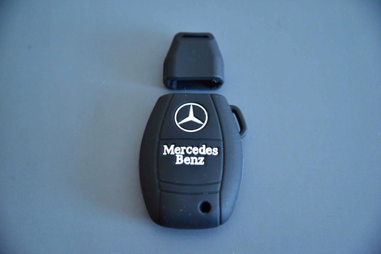 Чехол для ключа автомобиля Мерседес Mercedes  с логотипом
