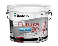 Краска уретан-алкидная TEKNOS FUTURA AQUA 80 водоразбавляемая белая (база1) 2,7л