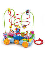 Дерев'яний розвиваючий Лабіринт viga toys Машинка (50120)