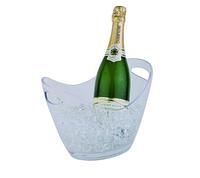 Чаша для шампанского 27х20см, Н21cм с 2-мя ручками, прозрачный пластик APS 36052