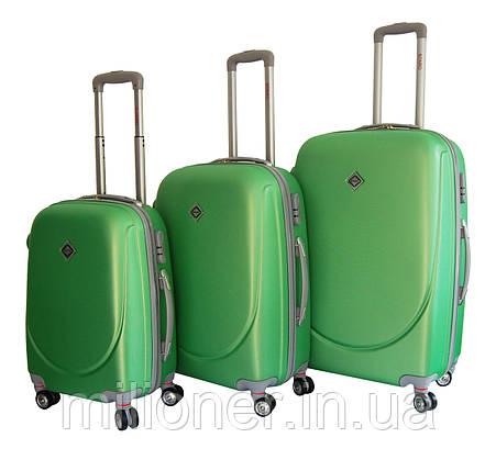 Чемодан Bonro Smile с двойными колесами набор 3 штуки салатовый, фото 2