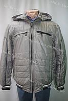 Зимняя мужская куртка с капюшоном серая