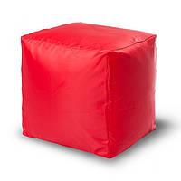 Пуф кубик 45*45*45 см красный из ткани Оксфорд