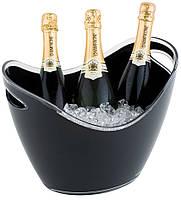Чаша для шампанского 35х27см, Н25,5cм с 2-мя ручками, черный пластик APS 36054