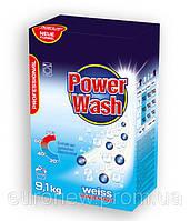 Бесфосфатный стиральный порошок Power Wash Professional  для белых тканей, 9,1 кг