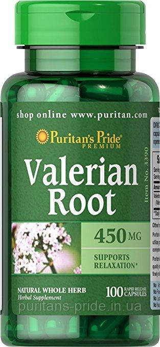 Puritan's Pride Valerian Root 450 mg 100 Capsules