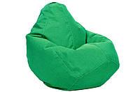 Малиновое кресло-мешок груша 100*75 см из микро-рогожки S-100*75 см, зеленый