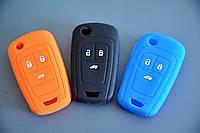 Чехол на корпус выкидного ключа для OPEL INSIGNIA (Опель Инсигния) 3 - кнопки, лезвие HU100