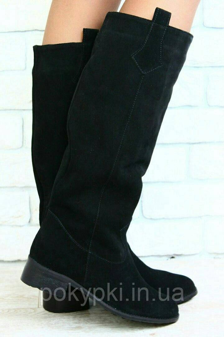 ef4b0dbb4 Хорошие сапоги женские высокие трубы низкий ход осень/зима кожа,замша,лак -