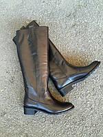 Лучшие сапоги женские кожаные высокие широкие без каблука демисезонные зимние