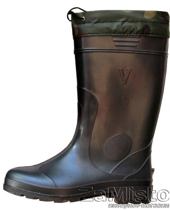 Сапоги резиновые мужские Грибник утепленные (зеленые)