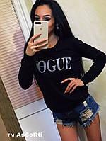 Женский батник Vogue черный СП