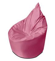 Розовое бескаркасное кресло мешок Капелька из ткани Оксфорд