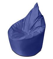 Синее бескаркасное кресло мешок Капелька из ткани Оксфорд