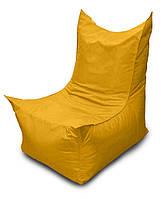 Желтое бескаркасное кресло трон из Оксфорда