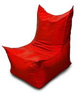 Красное бескаркасное кресло трон из Оксфорда