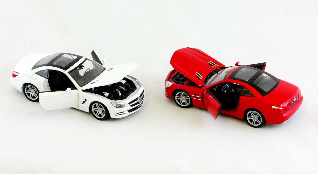 "Машина Welly, ""Mercedes-benz sl500(hard-top) 2012"", металлическая, масштаб 1:24, 24041W"