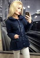 Куртка №Ft242, темно-синяя