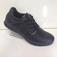 Кроссовки кожаные мужские Ecco черные. Очень качественные.