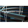 Труба полиэтиленовая черная с синей полосой д.32 мм(10 атм)