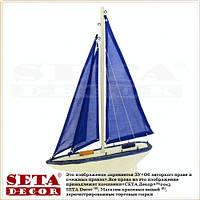 Прокат. Яхта с парусами морской декор из дерева