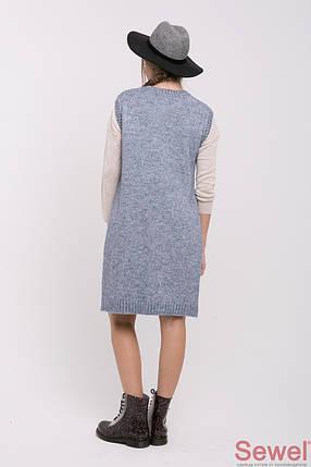 Вязаный модный женский жилет, фото 2