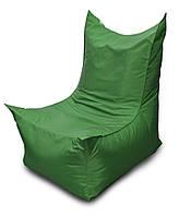 Зеленое бескаркасное кресло трон из Оксфорда