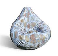 Кресло-мешок груша 120*90 см из катони джинс