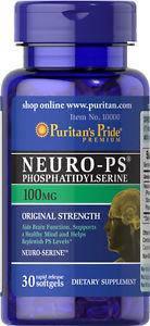 Фосфатидилсерин, Puritan's Pride Neuro-Ps (Phosphatidylserine) 100 mg 30 Softgels, фото 2