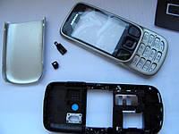 Корпус Nokia 6303 Silver + Клавиатура Качество, Полный Комплект, Заводское Качество