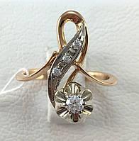 Кольцо с бриллиантами золотое 585 проба,СССР