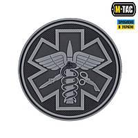 Нашивка M-Tac Paramedic (ПВХ) Черная, фото 1