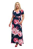 Женское повседневное длинное платье большого размера 1705052/3