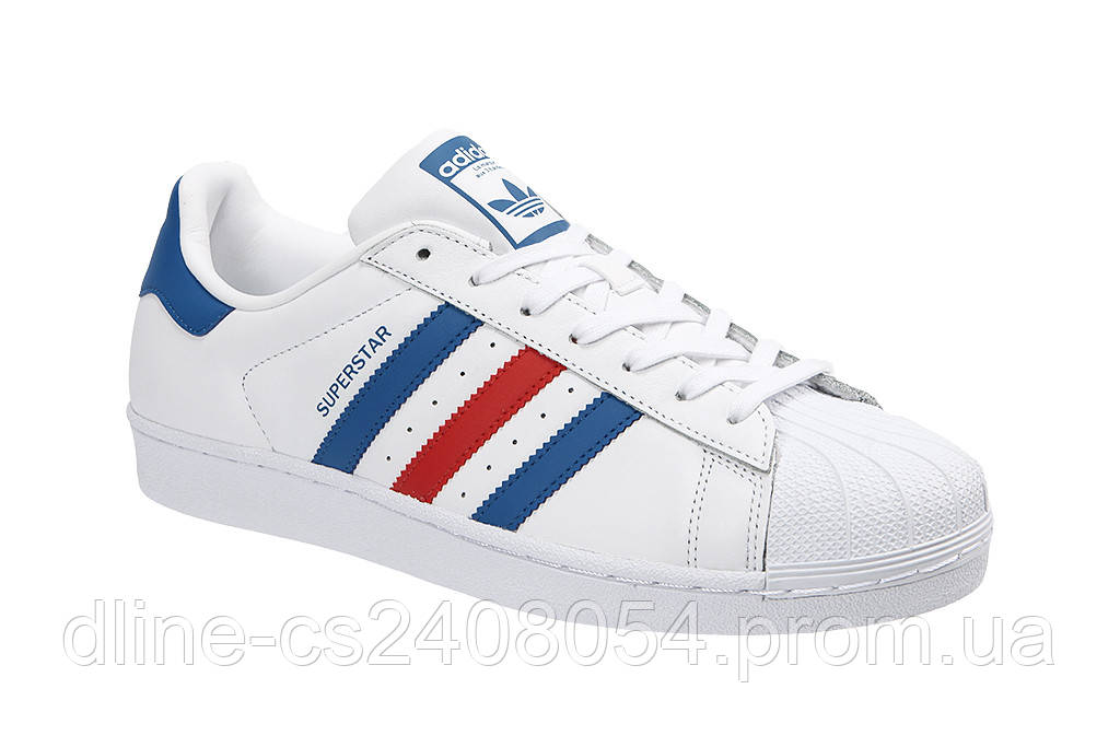Adidas SuperStar Red Blue Strip