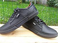 Кожаные осенние спортивные мокасины туфли