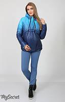 Короткая демисезонная двухсторонняя куртка из однотонной и принтованной плащевки лаке на силиконе