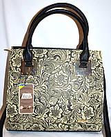 Женская каркасная сумка B Elit с перфорацией 31*28 (молочная)