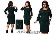 Платье женское нарядное стрейч-гипюр на трикотажном подкладе, украшено шифоновой накидкой размеры:54,56,58,60